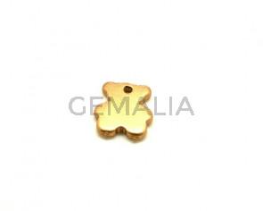 Ceramic. Bear. 27x24mm. Gold mat. Inn.3mm. approx.