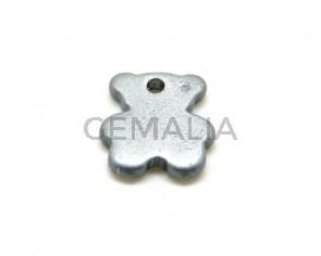 Ceramic. Bear. 27x24mm. Silver mat. Inn.3mm. approx.