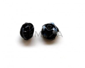Murano. Round. 10mm. Black. Inn.2mm.approx.