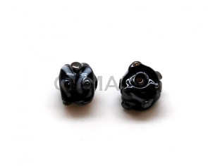 Murano.Barrel. 11mm. Black. Inn.2mm.approx.