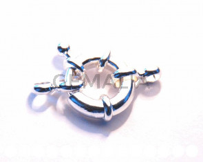 Spring Rings Clasp. 13mm. Silver color. Bag approx.
