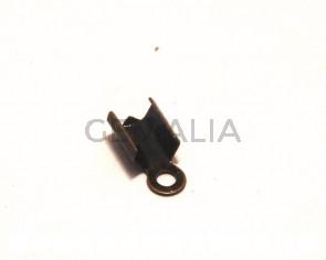 End Cap. 10x4mm. Bronze.