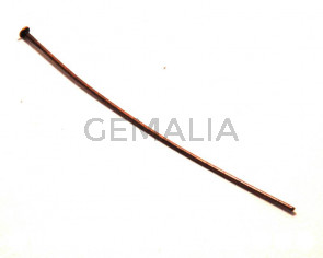 Headpins. 0.7x50mm. Red bronze. 100 PCs
