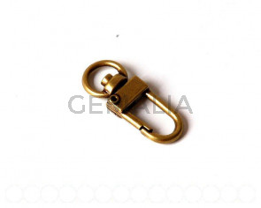 Clasp key chain. 33x12mm. bronze.