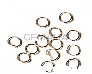 Open ring. silver color. 8x0,8mm. 200 PCs