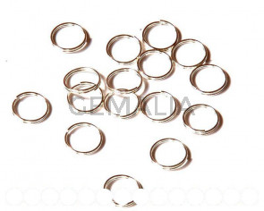 Closed ring. double. 12x0.7mm. Silver color.
