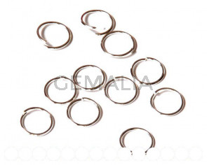 Closed ring. 12x1.2mm. Silver color.