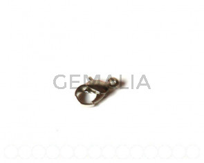 Lobster clasp 12mm. nickel color. 25 PCs
