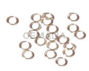 Close ring. double. 8x0.7mm. Silver color 50 PCs