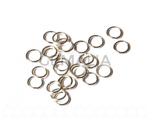 Closed ring. 8x1mm. Silver color. 100 PCs