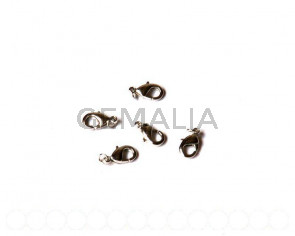 Lobster clasp 11,5x6.5x3mm. plumbum black 10 PCs