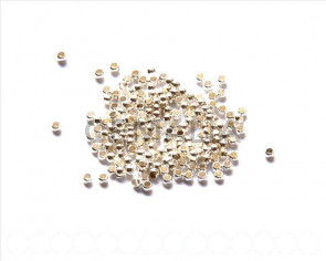 Brass Crimp Bead, 2.5mm. Silver color 200 PCs.