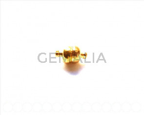 Magnetic Clasp 8mm. round. Gold color.