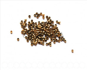 Brass Crimp Bead, 2.5mm. Antique gold 200 PCs.