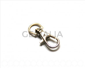 Key Clasp, 32x13mm. silver color.