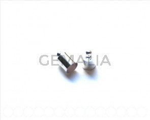 End Cap. 11x6mm. Silver color. Inn. 5.5mm approx 10 PCs