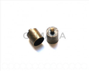 End Cap. 13x10mm. Bronze. Inn. 9.5mm approx 10 PCs