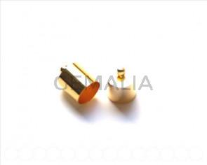 End Cap. 13x10mm. Gold color. Inn. 9.5mm approx 10 PCs