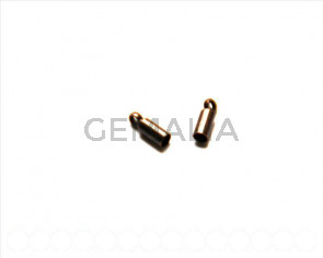 Metal. End cap, 8x2.8mm. Red bronze. 20Ud.