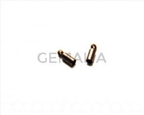 Metal. End cap, 8x2.8mm. Red bronze. 20Ud.