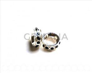 Metal. Rhinestone 15x15x6mm. silver color-montana.