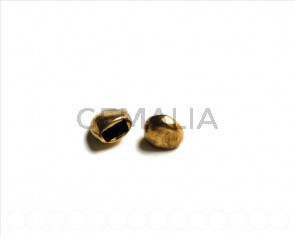 Zamak. Ending Part 10mm. antique gold. Inn. 6x3mm.