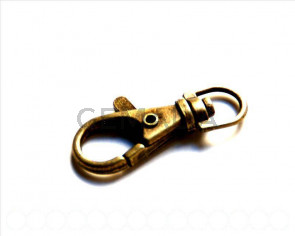 Metal. Clasps. 39x14mm. Antique gold.