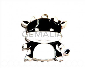 Metal. Pendant. Cow. 48x40x2mm. Inn.8x2mm.