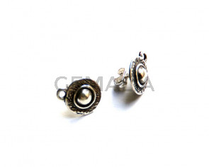 Zamak. Clasp. 12mm. Silver color. Inn. 2mm.