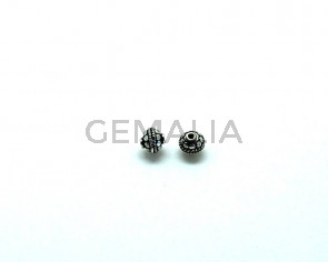 Metal. Round. 8mm. Antique silver. Inn.0.8mm.approx.