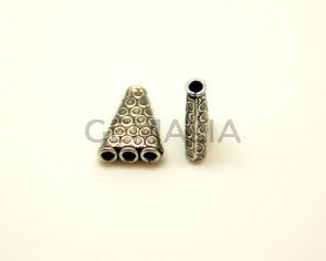 Metal. 20x15mm. Antique silver. Inn.2.8mm.