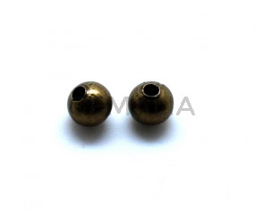 Metal. Round. 8mm. Antique gold. Inn.2.8mm.