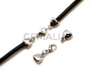 Stainless Steel. Clasp Set. 14x11.5x6mm./15x7.5x4mm.