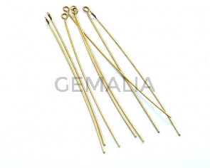 Metal. Eyepin. 82x0.8mm. Gold color.