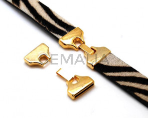 Zamak. Clasp. Hook. 42x23mm. Gold color. Inn.20x2mm.