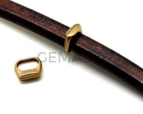 Zamak. 13x12.5mm. Antique gold. Inn.10x7mm.