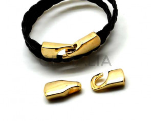 Zamak. Clasp. Gold Color.  Inn.8x2.5mm.