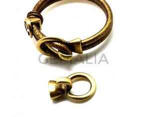 Zamak. Clasp. 33x23mm. Antique gold.  Inn.10x5mm.