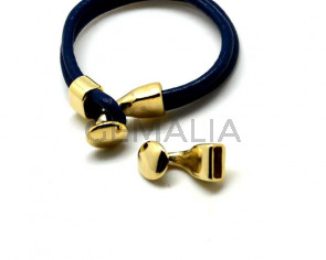 Zamak. Clasp. Button. 13mm. Gold color. Inn.10x3mm.