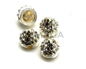 Rhinestone. Cone. 10x10mm. Silver color-crystal. Inn.2mm.approx.