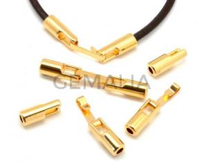 Zamak. Clasp. Hook. Gold color. Inn.3mm.