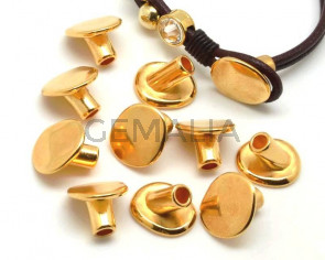 Zamak. Clasp. Button. 16x14mm. Gold. Inn.4.2mm.