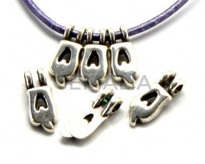 Zamak. Pendant. Letter Q. Silver color. 9mm. Inn.2.2mm.