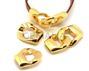 Zamak. Clasp. 38x19mm. Gold color. Inn.10x2.5mm.