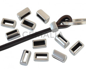 Zamak. 14x8x6.5mm. Silver color. Inn.10x2.2mm/10x4mm.