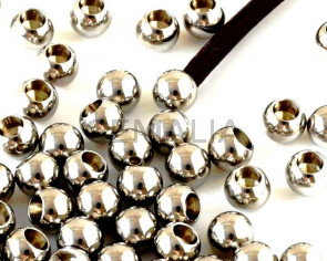 Stainless steel 201. Round. 6mm. Silver color. Inn.3.5mm.