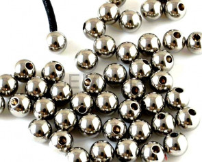 Stainless steel 201. Round. 6mm. Silver color. Inn.2mm.