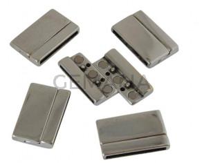 Zamak. Magnetic clasp. Flat. 33x21mm. Silver. Inn.29x2.5mm.