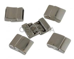 Zamak. Magnetic clasp. 22x17mm. Silver. Inn.14x2.8mm.