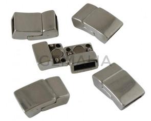 Zamak. Magnetic clasp. 21.5x12mm. Silver. Inn.10x2.5mm.
